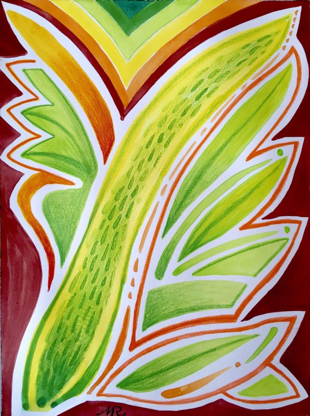 Albert Durer Inspired Wings Series Watercolor 12 Markus Ray Art