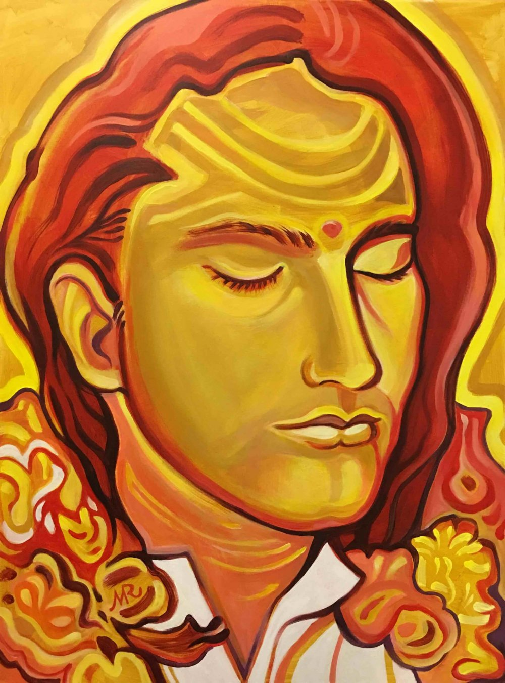 Babaji Icon painted in Saint Paul, Minnesota
