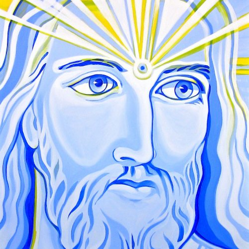 Ultramarine Blue Jesus - Paintings - Markus Ray Art