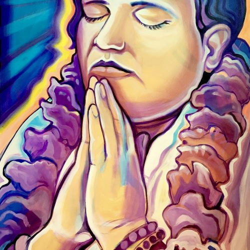 Divine Mother Praying - Paintings - Markus Ray's Art
