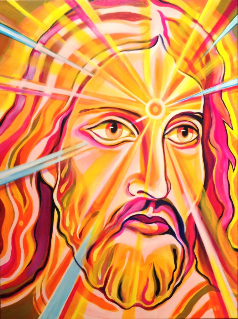 Jesu of Rays (GICLEE) - Posters - Markus Ray Art
